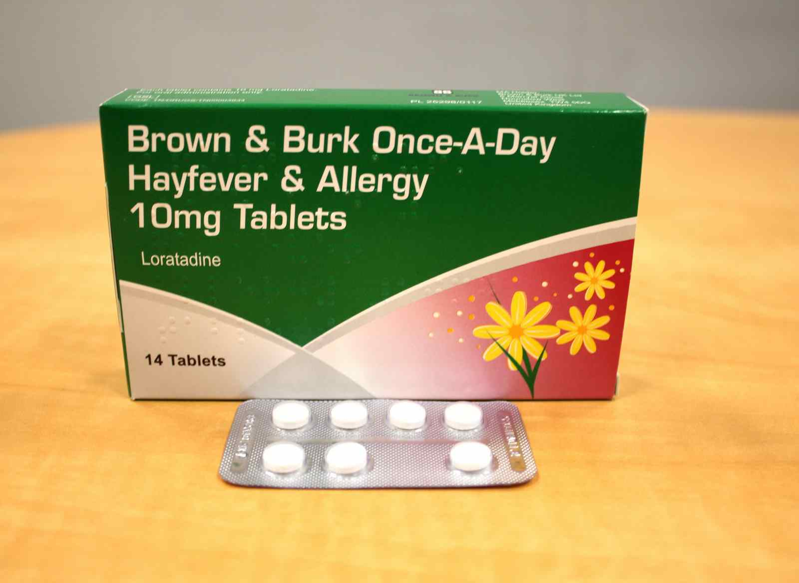 Once -A-Day Hayfever & Allergy 10 mg Tablets - Brown & Burk