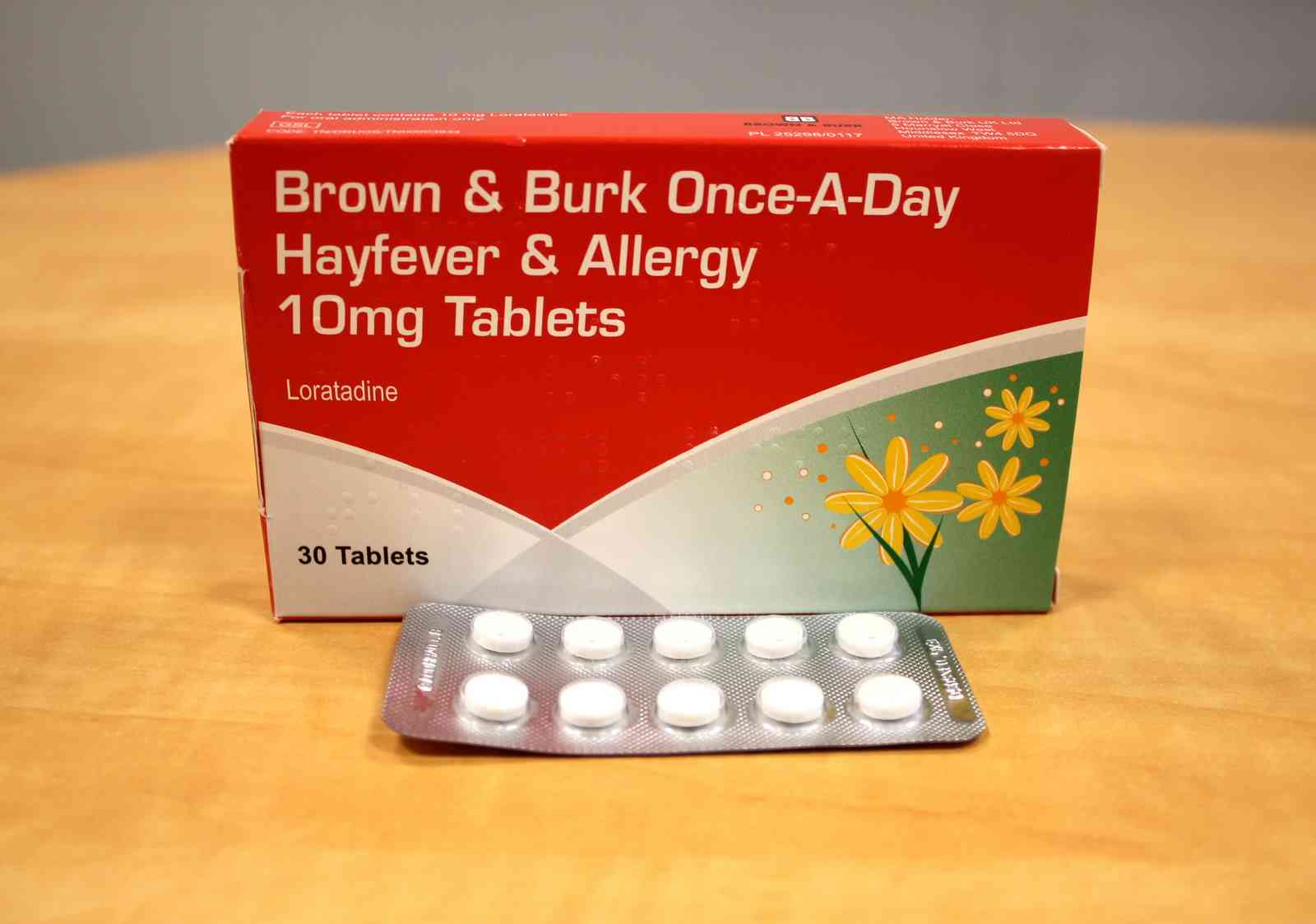 Brown & Burk - Once -A-Day Hayfever & Allergy 10 mg Tablets 30 Tablets